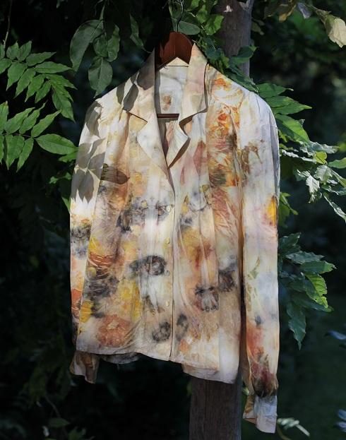 15crepurposed silk blouse