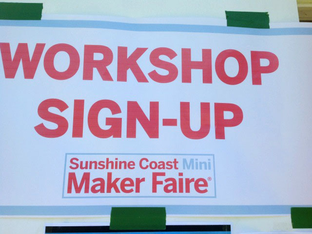 Workshop Sign-up Mini Maker Faire